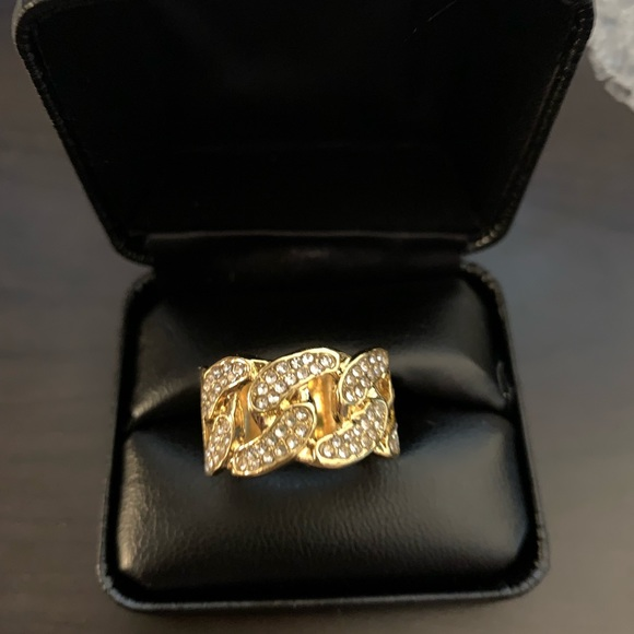 Other - Gold Cuban link ring size 10